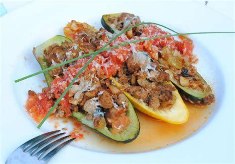 baked zucchini boat recipes baked zucchini boats