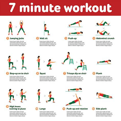 7 Exercises For The by Royalty Free Clip Vector Images