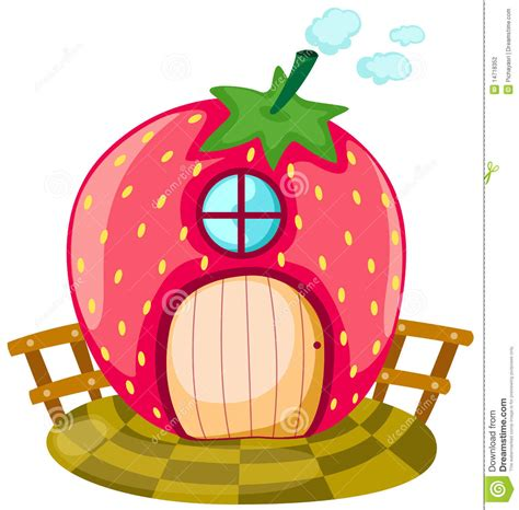 Cute Small House Plans Strawberry House Stock Vector Image Of Drawing