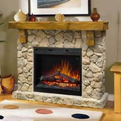 dimplex fieldstone rustic electric fireplace mantel