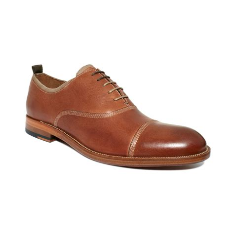 toe shoes johnston murphy clayton cap toe lace shoes in brown for