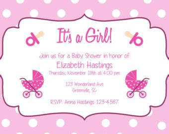 girl baby shower invites template best template collection