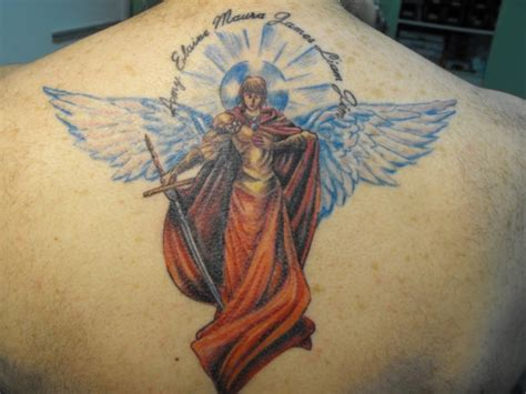 coloured angel tattoo 25 cool guardian angel tattoos creativefan