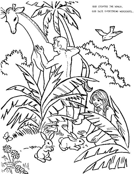 imgs for gt adam and eve in the garden of eden coloring pages