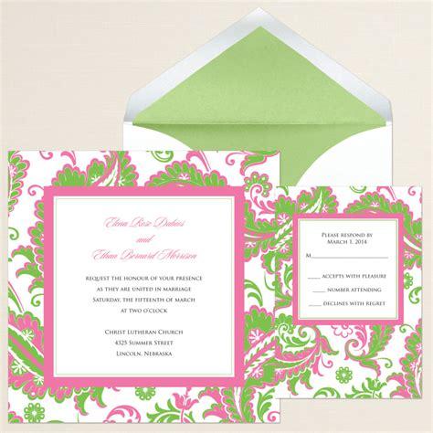 colorful wedding invitations colorful paisley wedding invitation