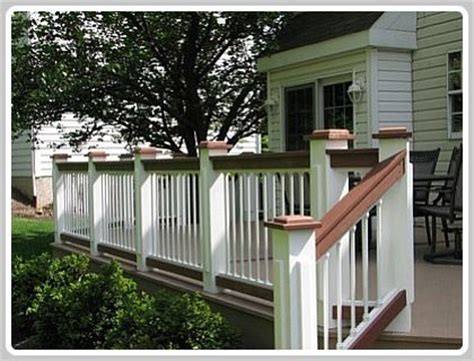 two tone deck ideas classic color combination deck and
