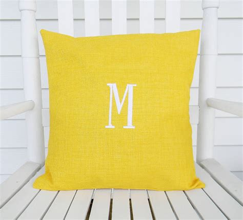 Monogrammed Outdoor Pillow by Monogrammed Outdoor Pillow Cover In Daffodil By Designs By Them Outdoor Pillows