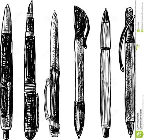pen doodle vector pens doodle stock vector image 44059905