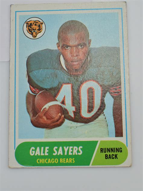 football cards value 1968 gale sayers chicago bears topps 75 football card