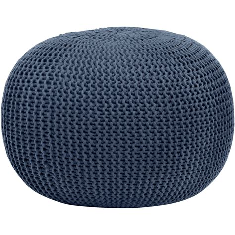 Pouf Seating Ottoman Chair Seat Rest Footstool Knit Pouf Footrest Ottoman Blue Stool Ebay