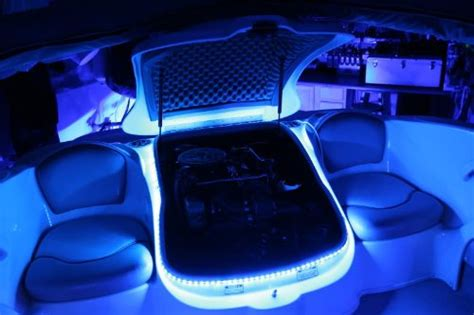 boat led interior lighting kit blue green marine
