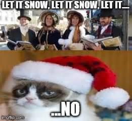 Grumpy Cat Snow Meme - funny cat memes