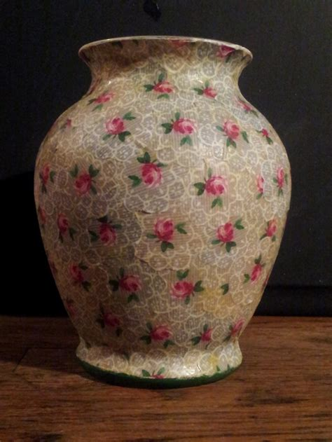 vintage shabby chic decoupaged vase my crafts