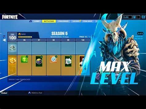 all season 5 battle pass rewards (max level tier 100