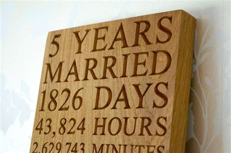 5th Wedding Anniversary Gifts Wood by 5th Anniversary Wall Plaques Makemesomethingspecial