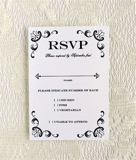 wedding response card template 30 images of template for buffet style wedding rsvp