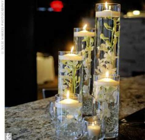 candle flower centerpieces flowers and floating candles wedding centerpieces