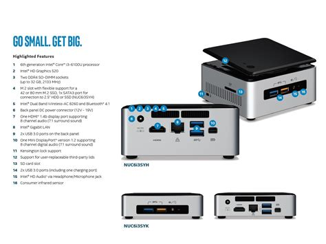 intel nuc kit 6th generation mini pc end 11 3 2019 5 00 pm