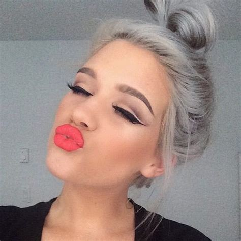 how to bring out grey hair beautiful eyebrows eyeliner girls goals gray hair