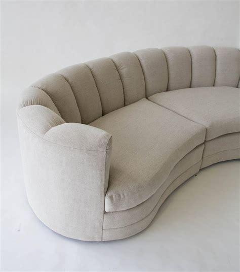semicircular sofa custom 1980s semicircular sofa at 1stdibs