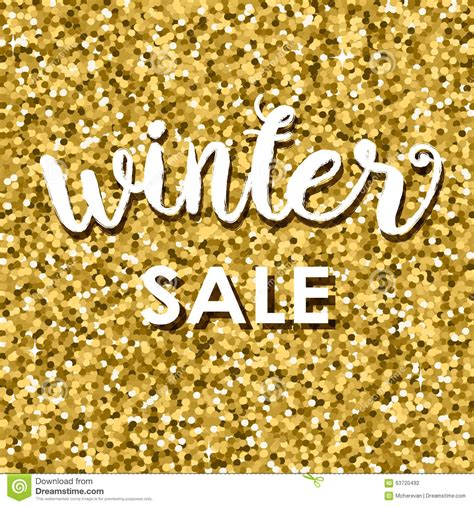 Sale Gliter gold glitter background with and text sale stock