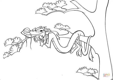 mushu at the tree coloring page free printable coloring