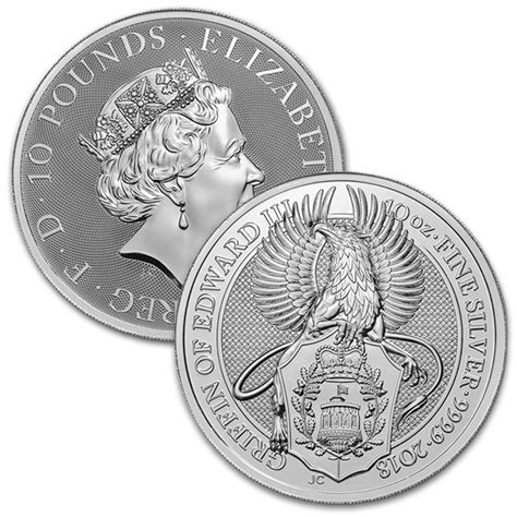 10 oz silver coin price buy 10 oz beast silver coins the griffin money