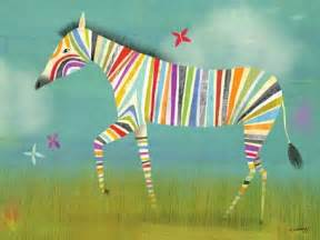 Zebra Vanity Oopsy Daisy Canvas Wall Art For Kids Rooms Contemporary