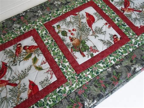 Winter Quilted Table Runner Christmas Quilted Table Runner Quilted Table Runners
