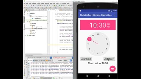 android studio timer tutorial android alarm clock tutorial part 3 onclicklistener