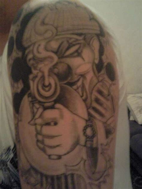 mob tattoos designs gangster clown designs tattoos book 65 000