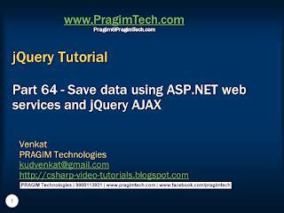 tutorial on jquery ajax sql server net and c video tutorial save data using