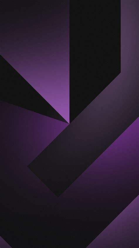 wallpaper geometric shapes dark background black violet purple gradient hd abstract