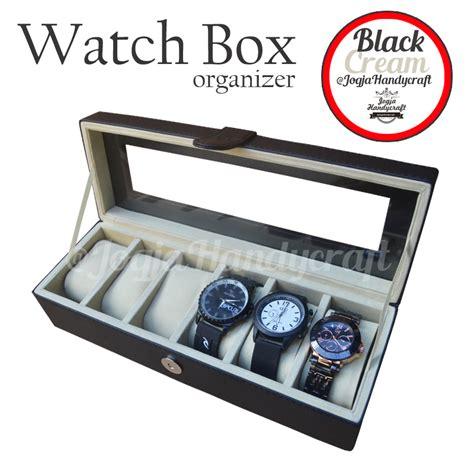 Kotak Tempat Jam Tangan Isi 6 kotak jam tangan isi 6 box organizer tempat jam
