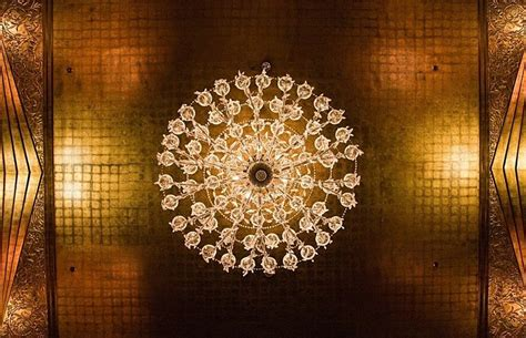 Chandelier Ceiling by Vintage Venue Cicada At The Oviatt Building Gold