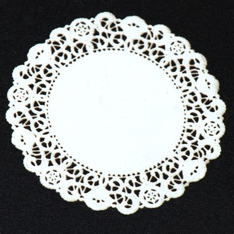 Creative Home Decoration by Large White Lace Doily 23 Stewart Dollhouse Creations