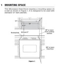 Under Cabinet Microwave Mounting Kit I Have A Frigidaire Gallery Over The Range Microwave Oven