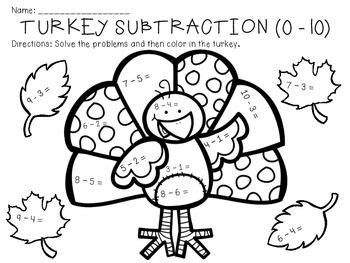 addition coloring page thanksgiving thanksgiving addition and subtraction