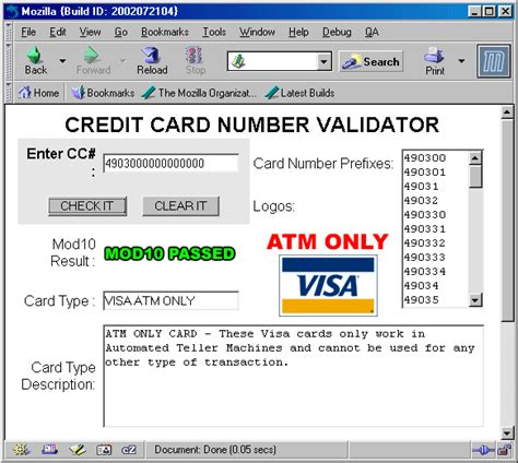 Sle Credit Card Number Mastercard Credit Card Number Mod10 And Type Valida Bg