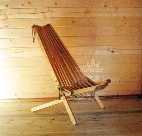 folded wooden chair for your sauna or garden 100 handwork