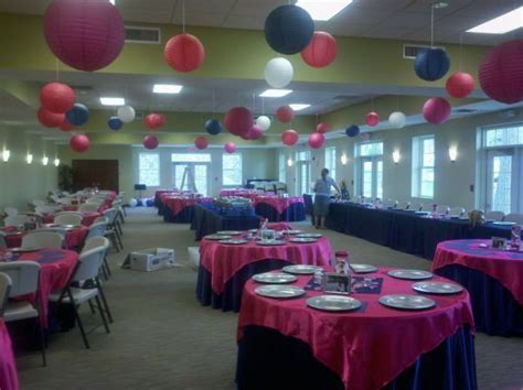 navy and fuschia wedding reception   eggplant wedding