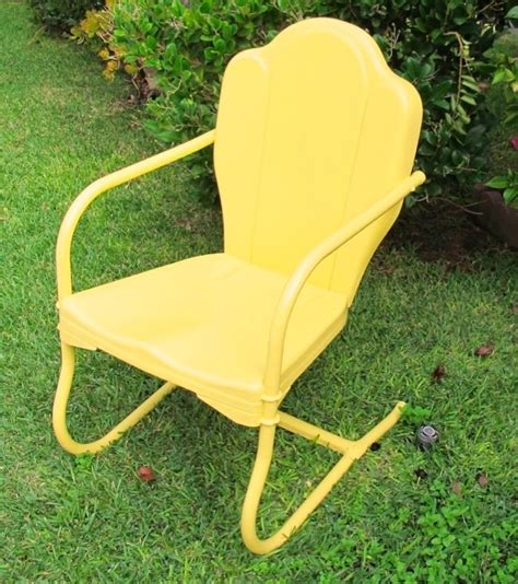 Metal Patio Chairs Retro Details About Original Yellow Metal Vintage Motel Style Retro Lawn Yard Patio Chair Metals