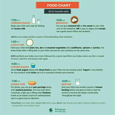 table foods for 10 month plz suggest food chart for 9 month baby boy