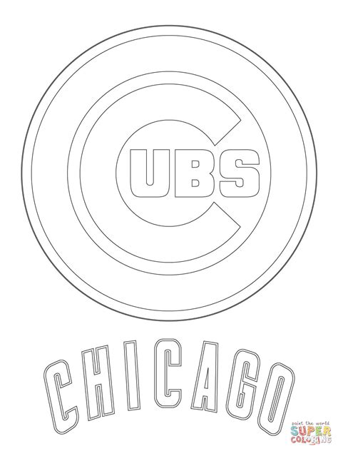 chicago cubs coloring pages chicago cubs logo coloring page free printable coloring