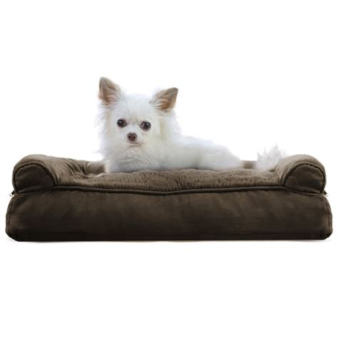 pillow dog bed furhaven plush suede pillow sofa dog bed pet bed ebay