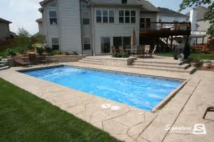 Cheap Patio Options Fiberglass Pool Pictures From Signature Pools Signature