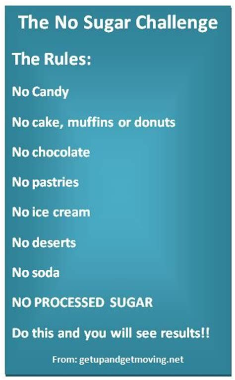 7 Day Sugar Detox Challenge by 25 Best Ideas About No Sugar Challenge On No