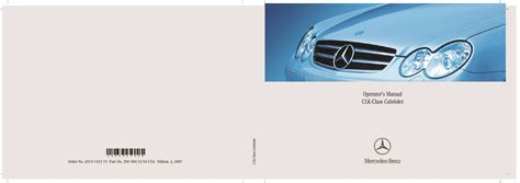 2007 mercedes benz clk class maintenance manual mercedes benz pdf download factory workshop