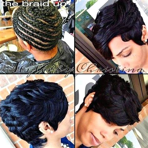 braiding short hair for sew in short sew in weave hairstyles pictures