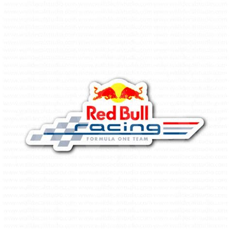 Auto Logo Roter Stier by Red Bull Racing F1 Racing Team Sticker